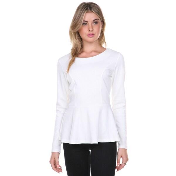 Stanzino Women's Long Sleeve Peplum Top
