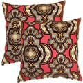 Vouray Ruby 17-inch Throw Pillows (Set of 2)