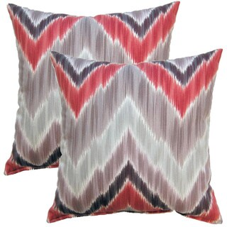 Tribal Find Wine 17-inch Throw Pillows (Set of 2)