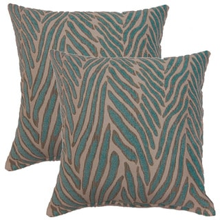 Canal Aqua 17-inch Throw Pillows (Set of 2)