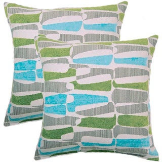 Kenya Aqualime 17-inch Throw Pillows (Set of 2)