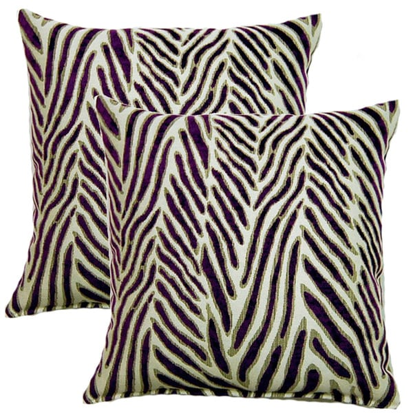 Canal Purple 17-inch Throw Pillows (Set of 2)