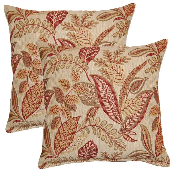 Becoming Sangria 17-inch Throw Pillows (Set of 2)