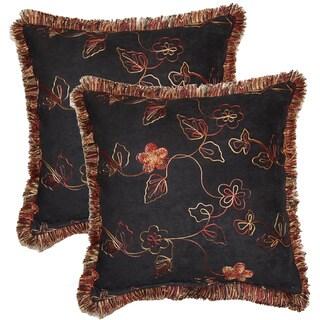 Nob Hill Black 17-inch Throw Pillows (Set of 2)