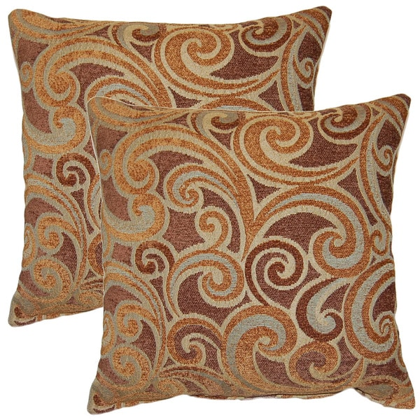 Starstruck Straw 17-inch Throw Pillows (Set of 2)