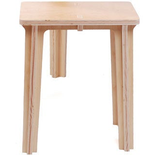 Natural 24-inch Plywood Stool