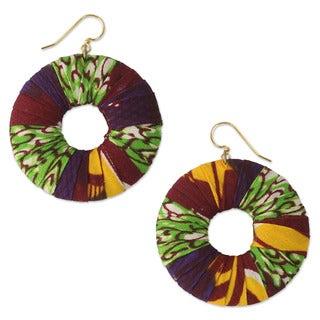 Cotton 'Ewuraesi' Dangle Earrings (Ghana)