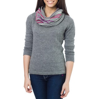 Handcrafted Alpaca Wool 'Grey Andes Muse' Neck Warmer (Peru)