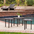 Christopher Knight Home Lido Outdoor Wicker Table Set (Set of 3)