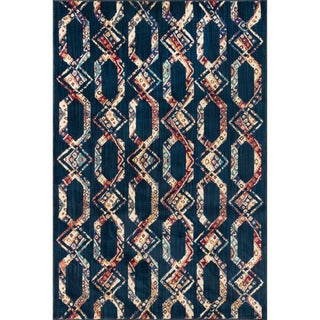 Sadie Navy/ Multi Lattice Rug (7'7 x 10'5)