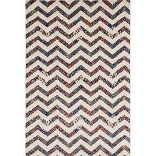 Sadie Ivory/ Multi Chevron Rug (5'2 x 7'7)