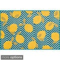 Maddy Lemon Chevron Rug (2'5 x 3'9)