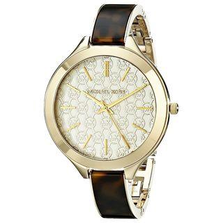 Michael Kors Women's MK4293 Slim Runway Round Tortoise Watch