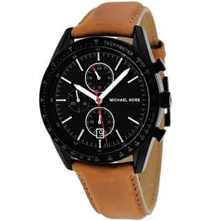 Michael Kors Men's MK8385 Accelerator Round Brown Strap Watch