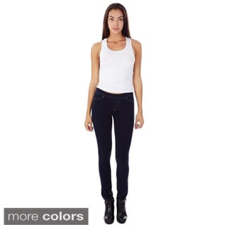 Juniors's Skinny Fit French Terry Pull-on Jeggings