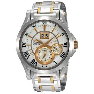 Seiko Men's SNP022P1 Premier Silver Watch