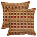 Maze 17-inch Throw Pillows (Set of 2)