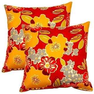 Sydney Berry 17-inch Throw Pillows (Set of 2)