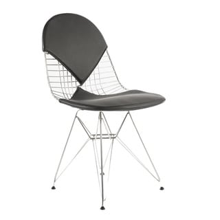 Bikini Stainless Steel/ Leather Accent Chair