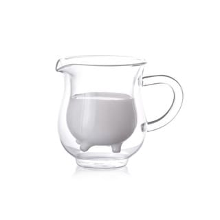 Eparé 8-ounce Double-wall Glass Creamer Holder