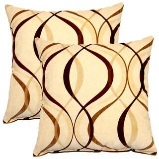 Savi Mocha 17-inch Throw Pillows (Set of 2)