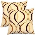 Savi Mocha 17-inch Throw Pillows (Set of 2)