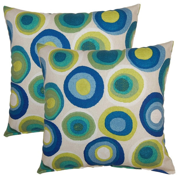 Puddle Dots 17-inch Throw Pillows (Set of 2)