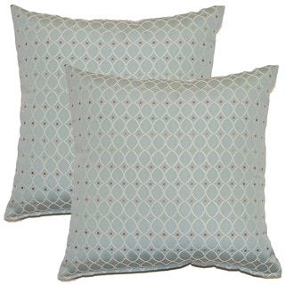 Curtsy Sky 17-inch Throw Pillows (Set of 2)