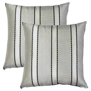 Avenue Black White 17-inch Throw Pillows (Set of 2)
