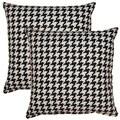 Berne Black White 17-inch Throw Pillows (Set of 2)