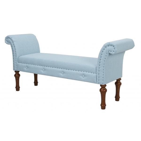 Jennifer Taylor Roll Light Blue Arm Bench