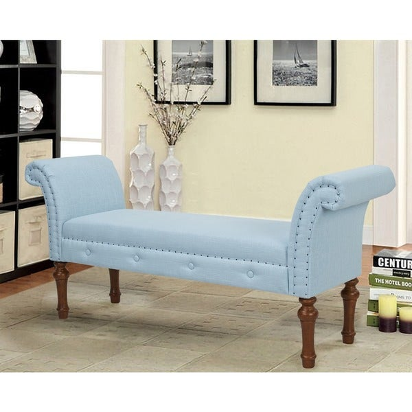 Jennifer Taylor Roll Light Blue Arm Bench