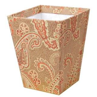 Polyester Paisley Wastepaper Basket