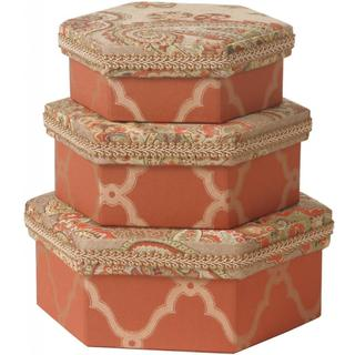 Paisley Hexagonal Boxes (Set of 2)