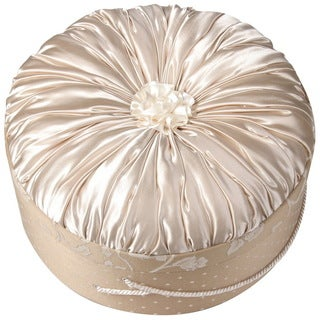 Cotton/ Polyester Pink Round Decorative Gift Box