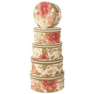 Floral Heirloom Hat Boxes (Set of 5)