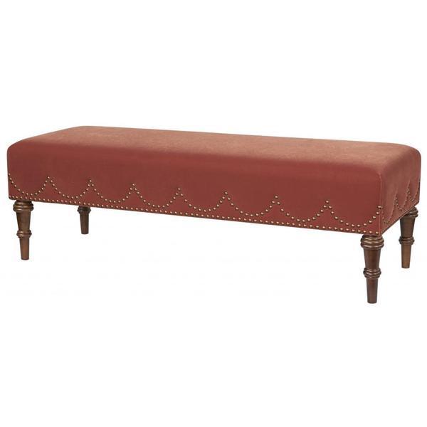 Jennifer Taylor Red Polyester Bench