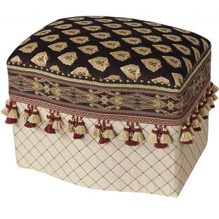 Upholstered Multi-colored Decorative Ottoman