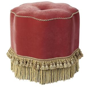 Upholstered Red/ Gold Kedleston Ottoman