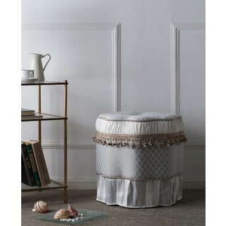 Round Skirted Decorative Ottoman