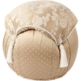 Heirloom Round Tasseled Ottoman