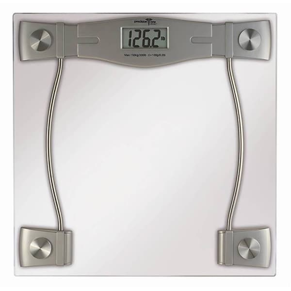 Precision One Glass LCD Digital Bathroom Scale