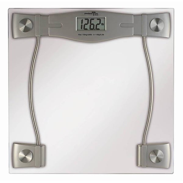 Precision One Glass LCD Digital Bathroom Scale