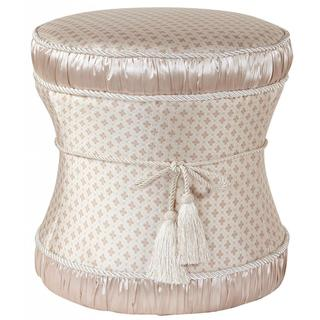 Cream Hour Glass Ottoman