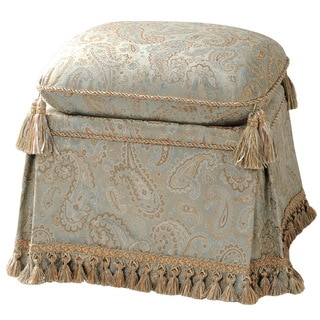 Upholstered Paisley Savannah Storage Vanity Stool