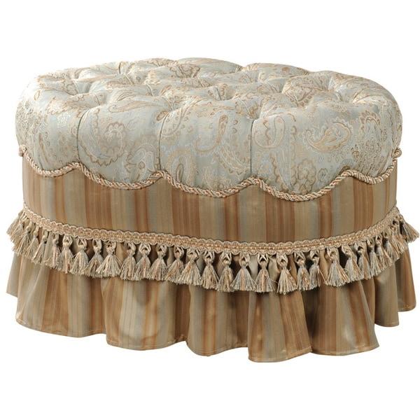 Savannah Polyester Oval Ottoman