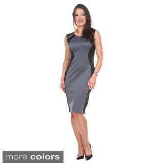 Stanzino Women's Colorblock Sleeveless Midi Dress