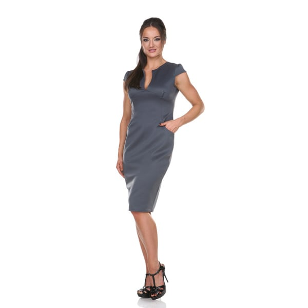 Stanzino Women's Solid Cap-sleeve Bodycon Midi Dress