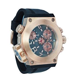 Adee Kaye Men's 'Bulldozer G2' Collection Rose Goldtone Watch