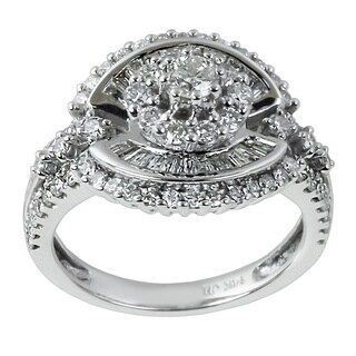 Contessa 14k White Gold 1 3/5 ct TDW Diamond Ring